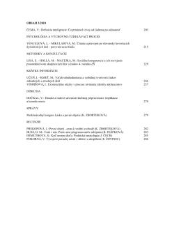No. 3 - Výskumný ústav detskej psychológie a patopsychológie