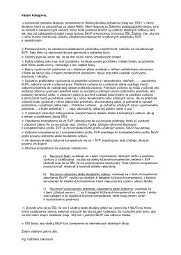 pokyny ŠŠI - Stredná odborná škola