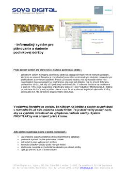 - informačný systém pre plánovanie a riadenie