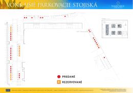 Plán parkovacích miest 1. etapa