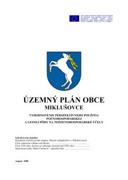ÚZEMNÝ PLÁN OBCE - Obec Miklušovce