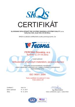 SKQS - ISO 14001:2004