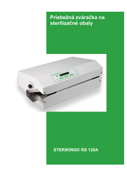 Priebežná zváračka na sterilizačné obaly RS 120A