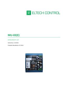 MU-02(E) - Eltech Control sro