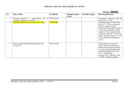 Plán práce vlády SR-2013