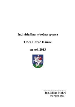 Výročná správa obce 2013