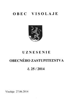 Uznesenie OZ 25/2014