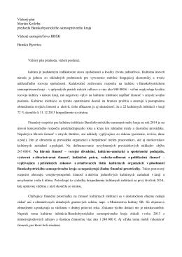 Vážený pán Marián Kotleba predseda Banskobystrického