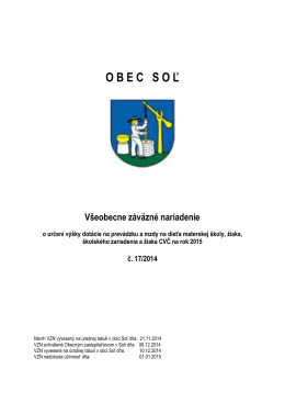 VZN 17 - Obec Soľ