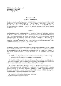 Ministerstvo zahraničných vecí a európskych záležitostí Slovenskej