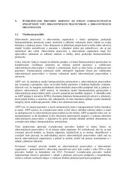 AIFP Pravidlá zverejňovania - Kapitola 14 Etického kódexu
