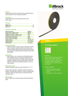 TN050 Paneltack páska