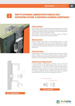 3 skryté upevnenie laminátových panelov (hpl)