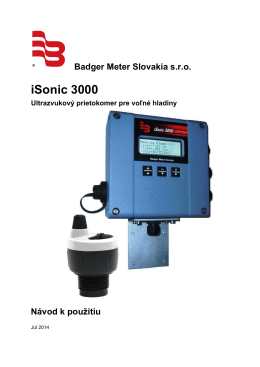 iSonic 3000 - Badgermeter