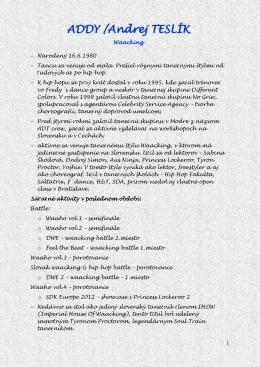 ADDY /Andrej TESLÍK
