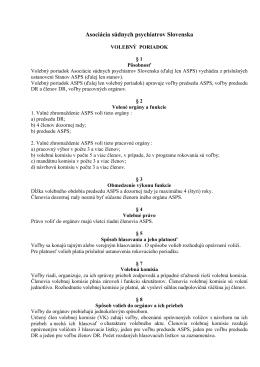 Volebný poriadok ASPS vo formáte PDF