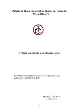 Kritéria hodnotenia žiakov (.pdf)