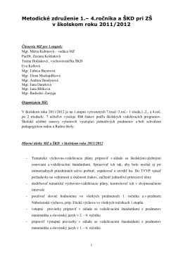 Predmetová komisia prírodovedných predmetov: M, F