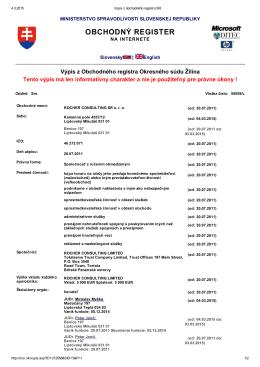 Výpis z obchodného registra