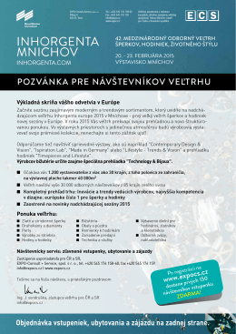 INHORGENTA MNICHOV - EXPO-Consult+Service, spol. s ro