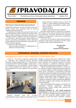 spravodaj scs 3/2012 - Slovenská cestná spoločnosť