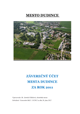 výdaj - Mesto Dudince