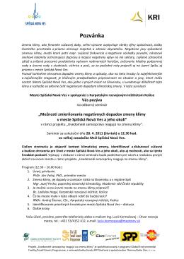 viď Pozvánka - Karpatský rozvojový inštitút
