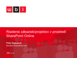 Riadenie projektov v prostredi SharePoint Online