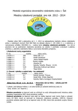 Mestská organizácia slovenského rybárskeho zväzu