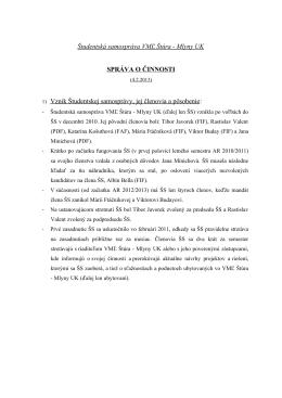 Študentská samospráva VMĽ Štúra