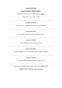 Larsen Bar & Grill Námestie Baníkov 2, 048 01 Rožňava