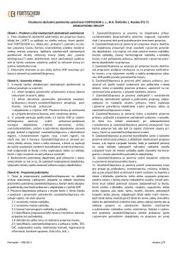 Formulár – GR/10-1 strana 1/5 Všeobecné obchodné podmienky