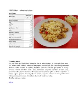 12.050 Rizoto s mäsom so zeleninou