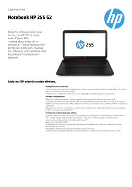PSG EMEA Commercial Notebook 2013 Datasheet - HP