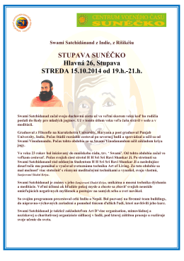 STUPAVA SUNÉČKO Hlavná 26, Stupava STREDA 15.10.2014 od