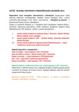 súťaž telesnej zdatnosti stredoškolskej mládeže 2011
