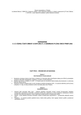 VZN o záväznej časti Zmeny a Doplnku č.2 Územného