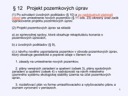 10. projekt PÚ §12, 13