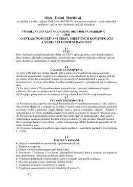 VZN 4/2011 - Dolná Mariková