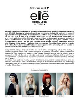 Elite Model Look Slovakia 2015