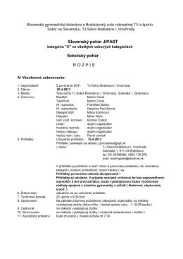 rozpis - Slovenská gymnastická federácia