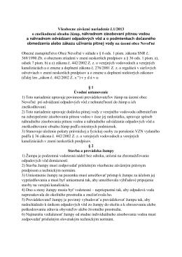 Všeobecne záväzné nariadenie č.1/2013 o zneškodnení obsahu