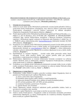 vydané v zmysle ustanovení § 273 ods. 1 Obchodného