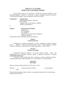 ZMLUVA O NÁJME - skolalamac.stranka.info
