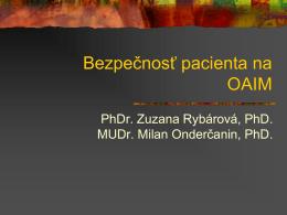 Bezpečnosť pacienta na OAIM