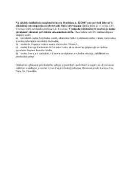 Daň z ubytovania (DzU)