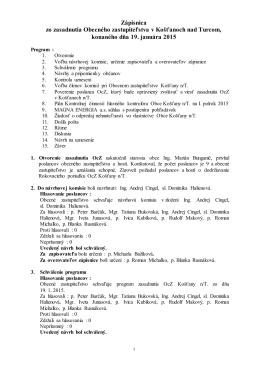 Zapisnica 2015-01-19