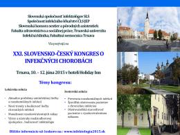 XIX. slovensko-český kongres o infekčných
