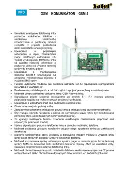 GSM KOMUNIKÁTOR GSM 4