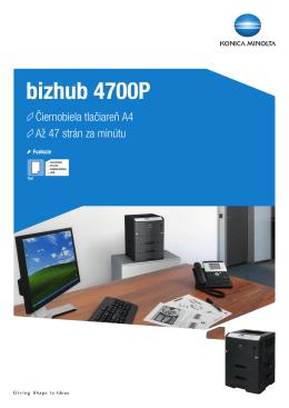 Prospekt k bizhub 4700P, PDF
